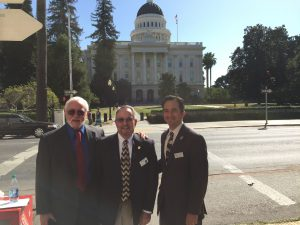 Save Our Bridge Campaign Committee Chair Douglas Moon, Nevada County Board Supervisor Hank Weston and SYRCL Executive Director Caleb Dardick.
