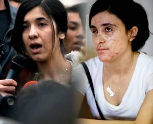 Nadia Murad (left) and Lamiya Aji Basharr ©AP Images/ European Union-EP & ©Enric Vives-Rubio/Público
