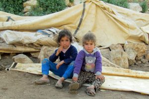 These children became homeless in late March 2016 when Israeli authorities destroyed 53 structures in the Palestinian community of Khirbet Tana, located in Area C of the occupied West Bank. Photo: OCHA occupied Palestinian territory