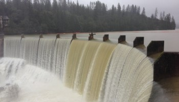 Spill-over: In spring of 2017, snowmelt gushed over Van Giesen Dam, on Combie Reservoir in southern Nevada County, because reservoirs already had been filled by wintertime rain.