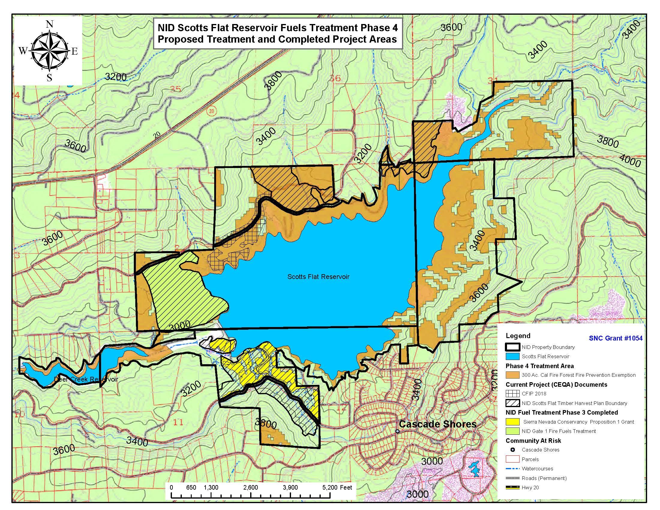 scotts flat lake map Snc Awards Grant For Nid S Phase 4 Fuels Treatment Project At scotts flat lake map