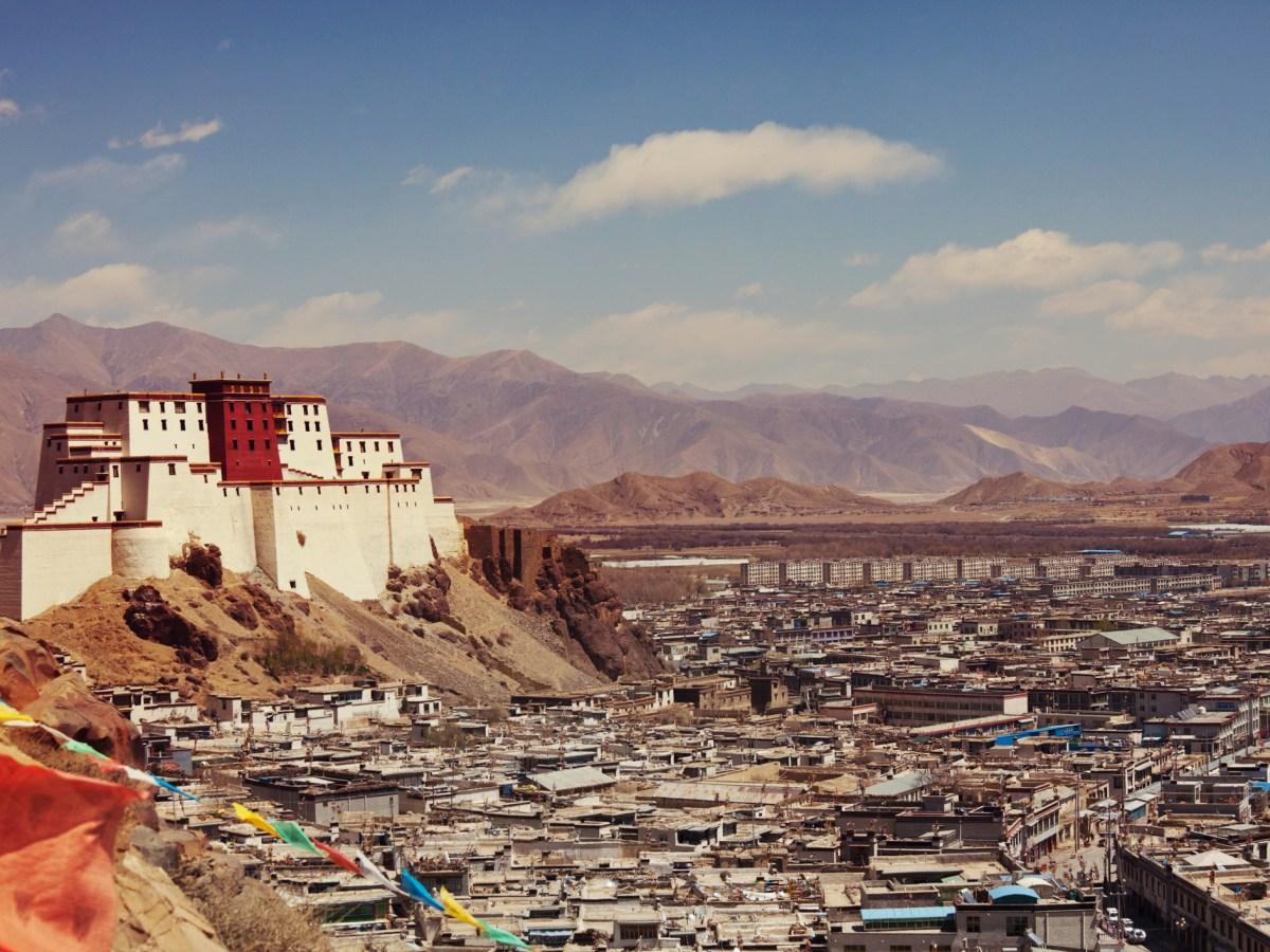 Panchen Lama residency called Little Potala in Shigatse city, Tibet, China