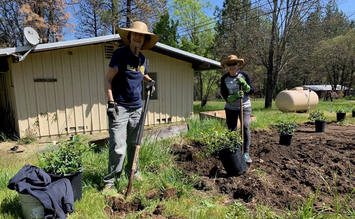 Nevada City Rotary Celebrates Earth Day Restoring Woolman Farm