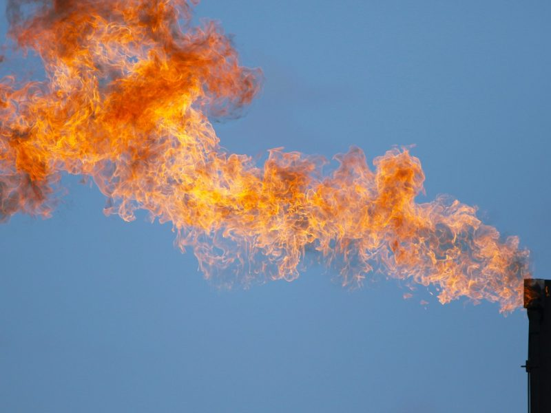 Gas flaring during oil and gas production is a known source of methane emissions.