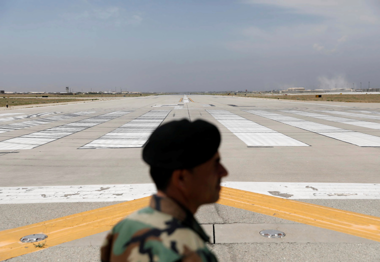 Runway is seen at Bagram U.S. air base, after American troops vacated it, in Parwan province, Afghanistan July 5, 2021. REUTERS/Mohammad Ismail