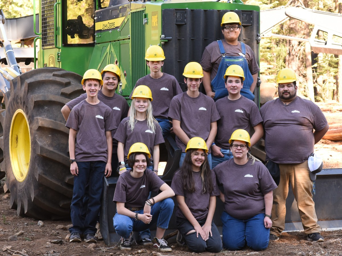 Students from Nevada Union High School participate in the 2021 Shasta Forestry Challenge.