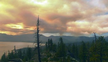 Heavy ash-laden smoke billowed into the Lake Tahoe basin during the Caldor Fire, prompting citizen scientists to document the ash for a research project at the University of Nevada, Reno and the Desert Research Institute that is developing fire tornado prediction tools for public safety during extreme wildfires.