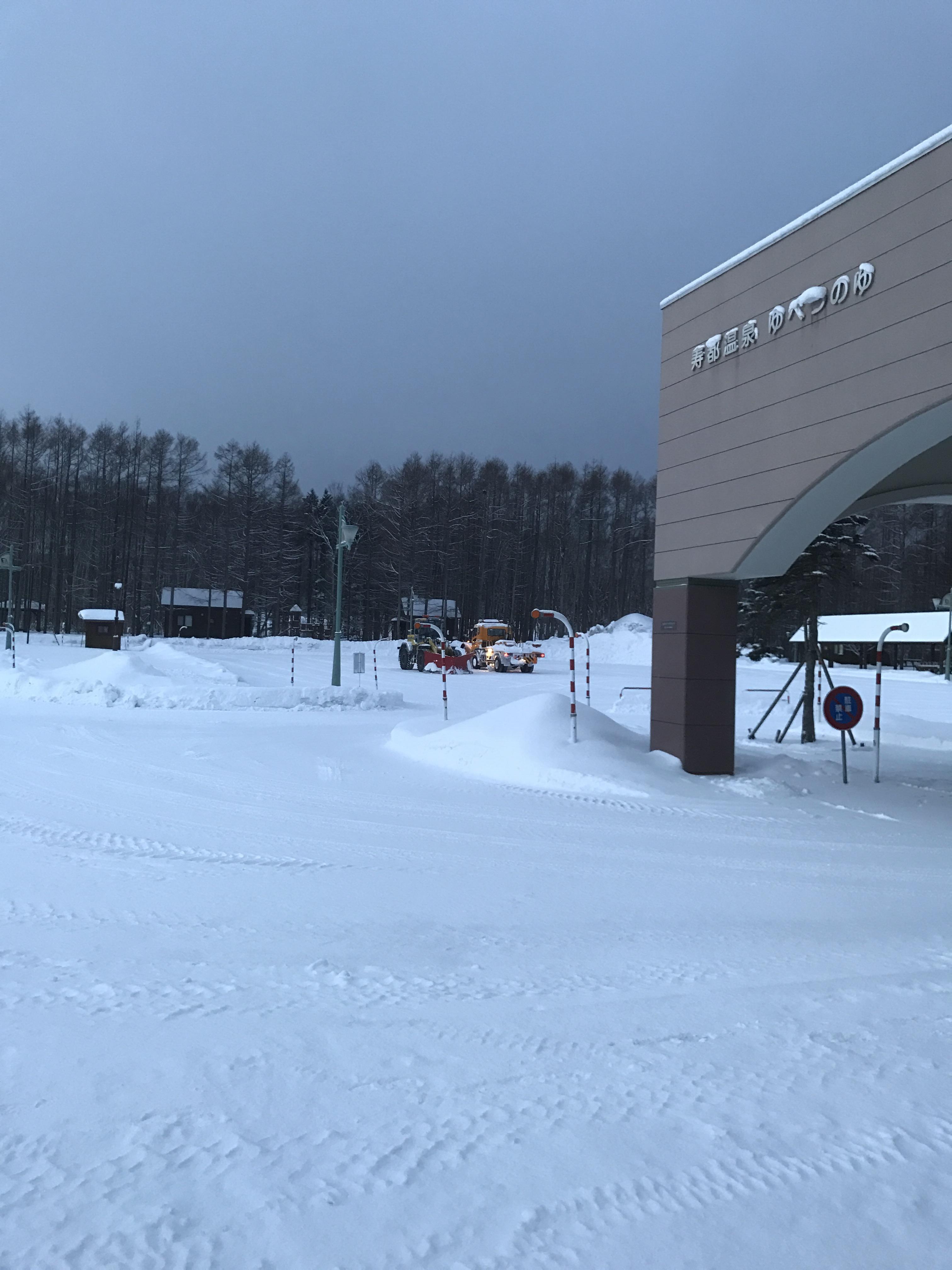 今朝も除雪完璧です(^^)