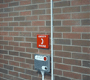 An Indoor Safety Phone on campus