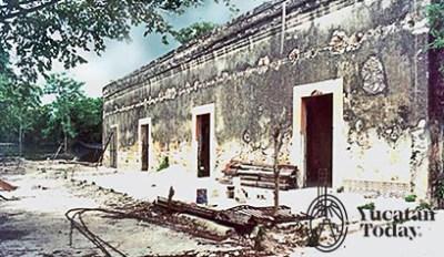 Hacienda xcanatun antes fachada