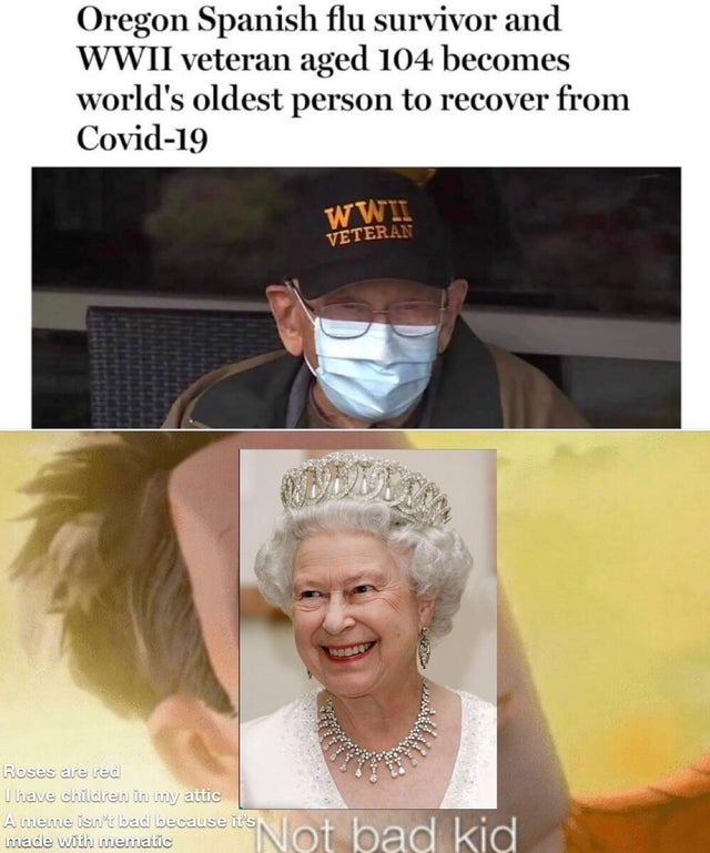 The queen is live