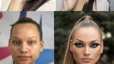 Before Makeup v After Makeup