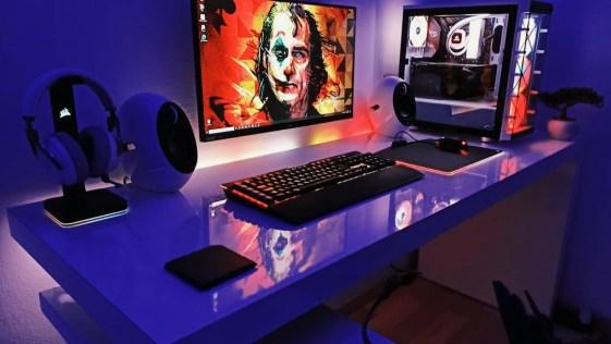 Batman Joker's Purple Haze Inspired Computer Setup