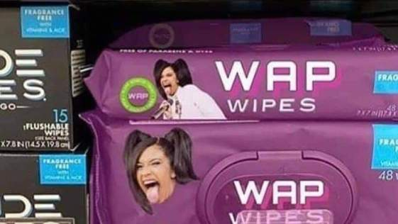 Cardi B WAP Wipes for that Extra Clean Feeling