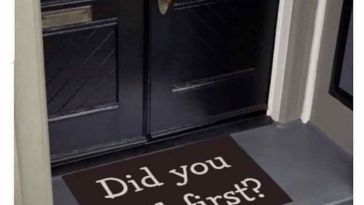 The perfect doormat for your crib and friends.