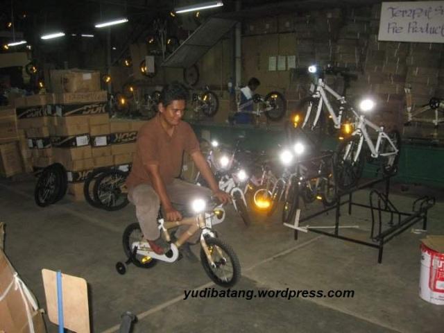 tes sepeda kecil