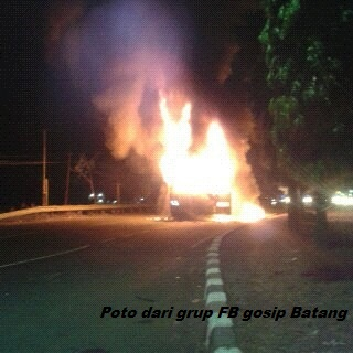 Bus Bejeu dibakar diBatang