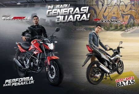 honda all new cb150r dan sonic 150