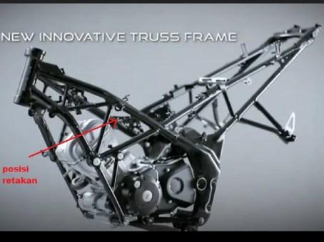Mesin dan Sasis Honda CB150R street fire