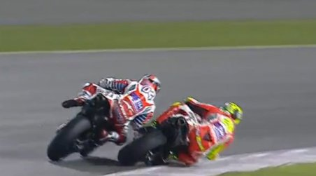 ianone over take dovi motogp qatar
