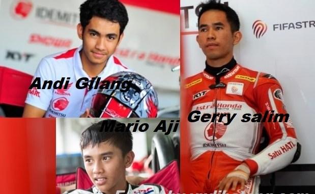 Tiga Pebalap Astra Honda