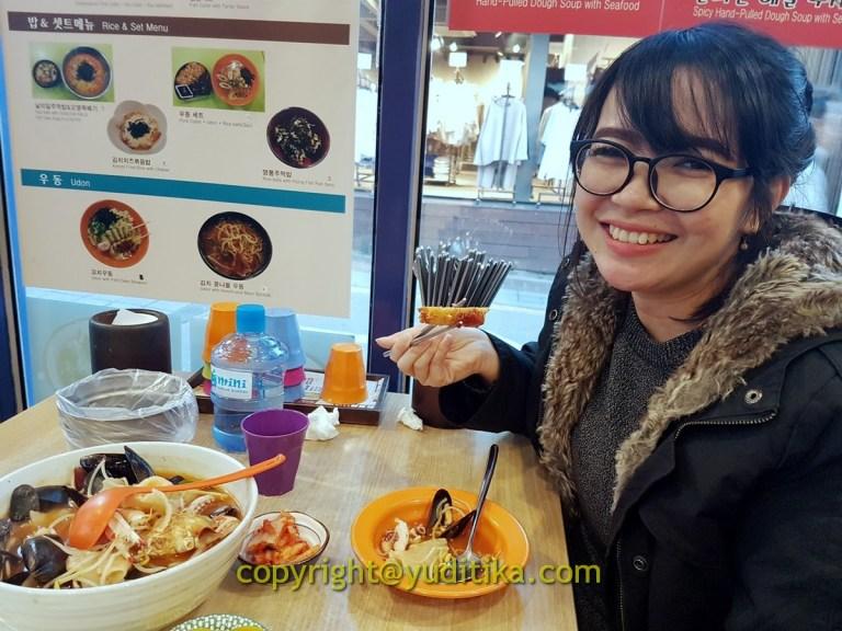 makan seafood dan pork tonkatsu di seoul korea