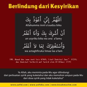 doa dijauhkan dari kesyirikan - yufid