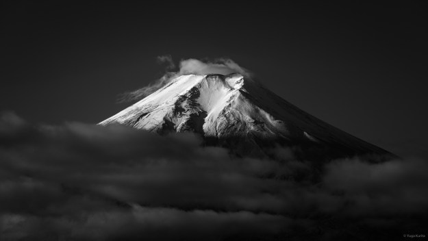 Mt. Fuji in Black and White by Yuga Kurita