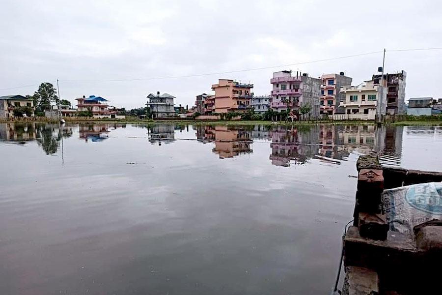 भरतपुरमा निकास विनाको विकास : नहर मासेर सडक, सडकमा पानी