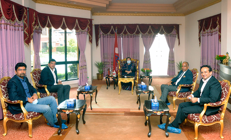 राष्ट्रपतिसँग सीएनआईले भन्यो : कोभिड सँगसँगै व्यवसाय खुल्न दिनुपर्छ