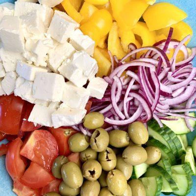 étape 1 recette de salade grecque