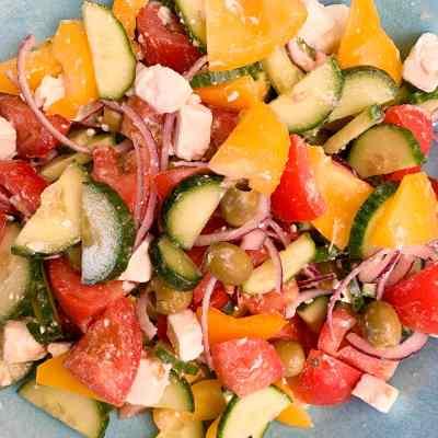 étape 3 recette salade grecque