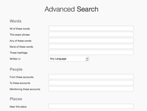 Twitter Advance Search