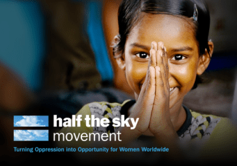 Image of a girl supported by the Half the Sky Movement