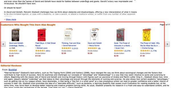 Amazon.com recommendation engine