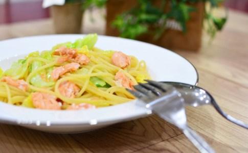 鮭とキャベツの塩パスタの作り方♬子供たちにも喜んでもらえるお手軽レシピ