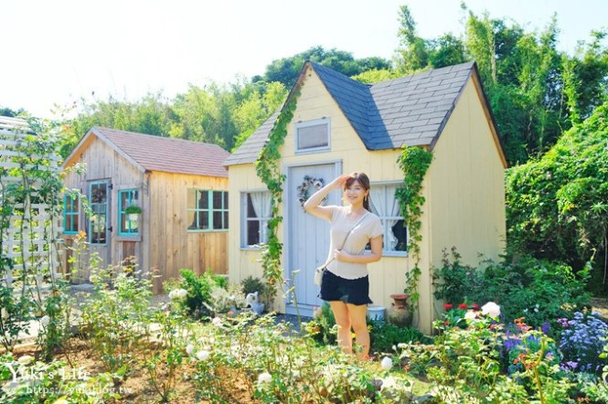桃園新景點【玫瑰山谷】市區裡超美玫瑰花園下午茶~情侶約會去!