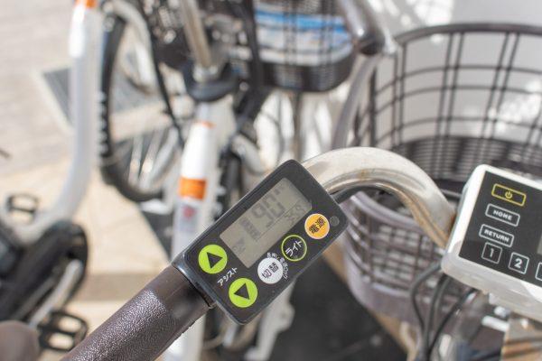 アシスト自転車の電池残量チェック