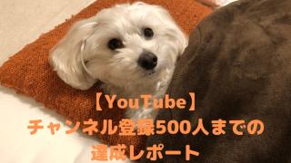 【YouTube】 チャンネル登録500人までの 達成レポート アイキャッチ