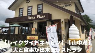 【レイクサイドキャビン】【山中湖】犬と食事が出来るレストラン アイキャッチ