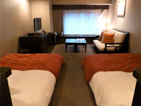 ラビスタ函館ベイホテルの客室「デラックスツイン」
