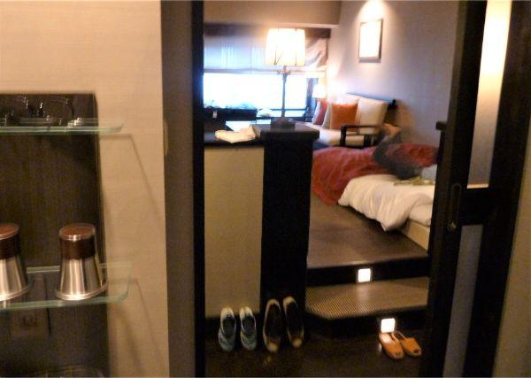 ラビスタ函館ベイホテルの「デラックスツイン」の内階段