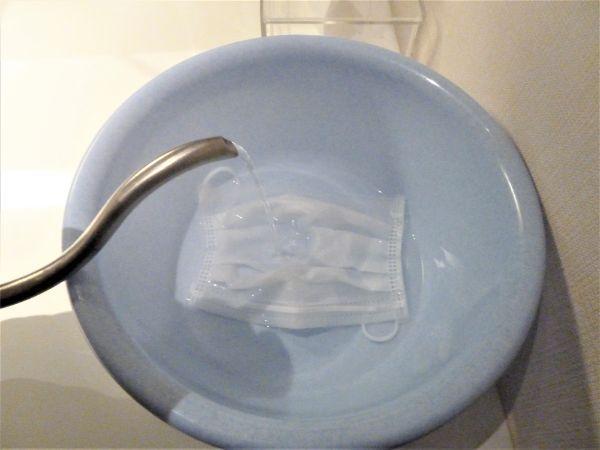使った「使い捨てマスク」を熱湯消毒