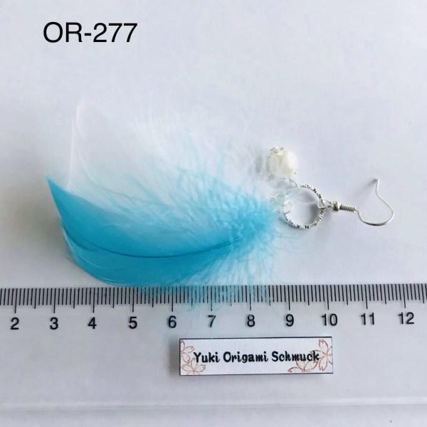 Federschmuck Ohrringe mit echten Federn