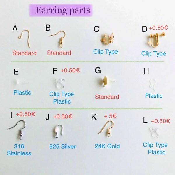 Ohrring Teile zum ändern der Ohrring Halterung