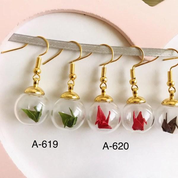 Ohrringe aus Origami Papier im Kranich Style von Japanischer Designerin
