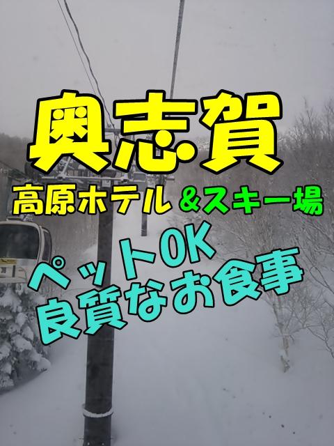 奥志賀高原ホテル&スキー場。ペット宿泊OK。食事など口コミ情報も