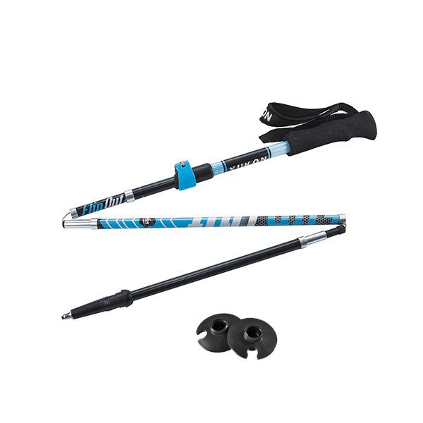 83-0107 Flipout Carbon Collapsible Trekking Pole Blue