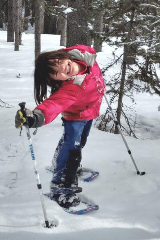 Fun Family Snowshoeing