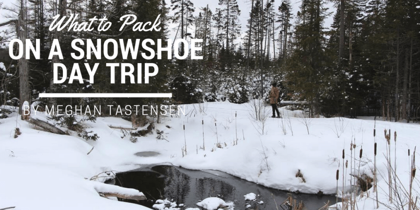 What to pack on a snowshoe day trip